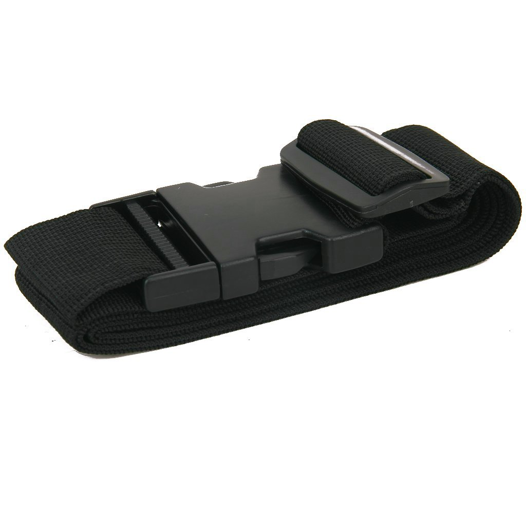Gleader Ceinture d'emballage Sangle de Valise Sangle de Securite - Noir