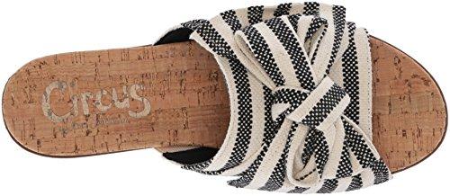 Sandal Slide Black Circus Seafarer Edelman Sam Ninette Canvas by Ivory Women's 1SnnZBwqF