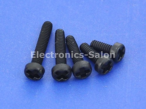 Electronics-Salon 10pcs m2 x 12 mm Vis Phillips pan-header en nylon noir.