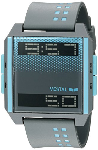Vestal Unisex DIG037 Digichord Digital Display Quartz Grey Watch