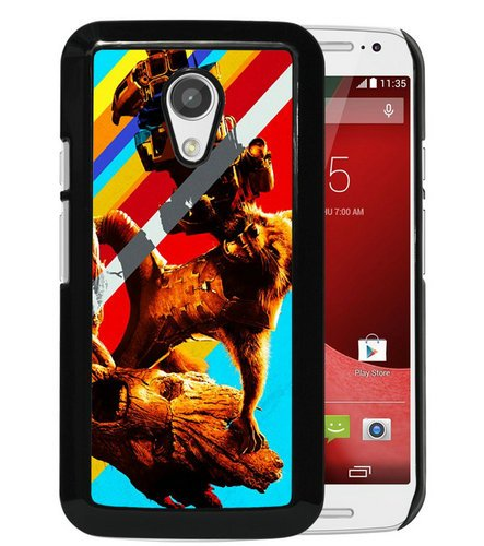 Guardians Of The Galaxy Rocket & Groot Black Phone Case for Motorola Moto G 2nd Generation,Newest Cover (Motorola G Cover 2nd Generation)