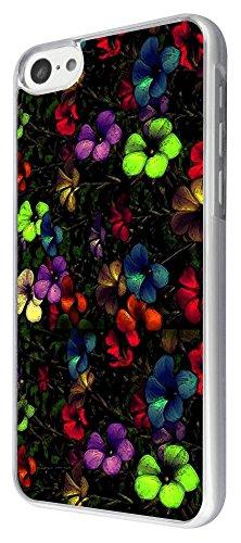 314 - 3D effect Vintage Shabby Chic Floral Roses Fleurs Design iphone 5C Coque Fashion Trend Case Coque Protection Cover plastique et métal