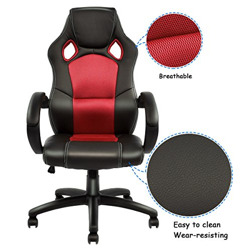 Pleasant Giantex Gaming Chair Racing Chair High Back Bucket Seat Ocoug Best Dining Table And Chair Ideas Images Ocougorg