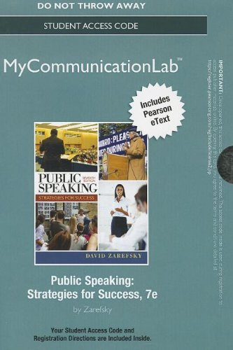 NEW MyCommunicationLab with Pearson eText --Standalone Access Card-- for Public Speaking (7th Edition)