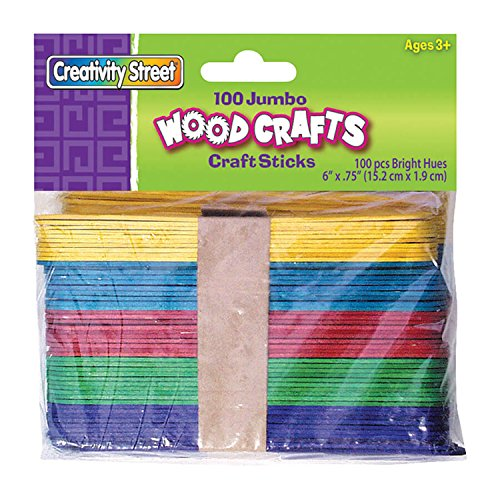 Pacon Jumbo Bright Hues Craft Sticks (Sticks Colored)