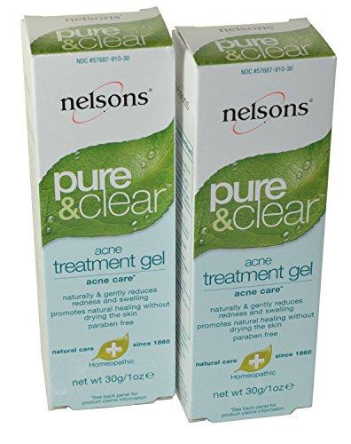 Nelson homéopathique: Pure & Clear Acne Treatment Gel, 1 once (pack de 2)
