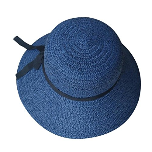300593bc50bcd Foldable Women Straw Hat Lady Lightweight Beach Summer Sun Floppy Hats Wide  Brim Caps