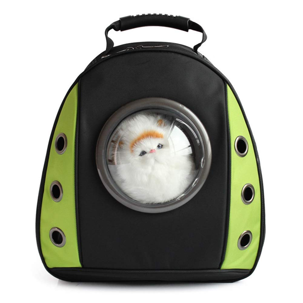 Green 342241cm Green 342241cm FELCIOO Pet Space Cat Bag Chest Pack Transparent Backpack Dog Space Backpack (color   Green, Size   34  22  41cm)