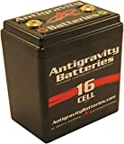 Antigravity Batteries - Lightweight Motorcycle Lithium Ion Battery - Small Case 16 Cell AG1601 - MADE IN THE USA - 3 Pounds 3 Ounces - 480 CCA - Chopper Bobber Cafe Racer Harley