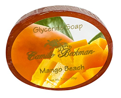 - Camille Beckman Glycerine Bar Soap, Mango Beach No. 2, 3.5 oz (3 Bars)