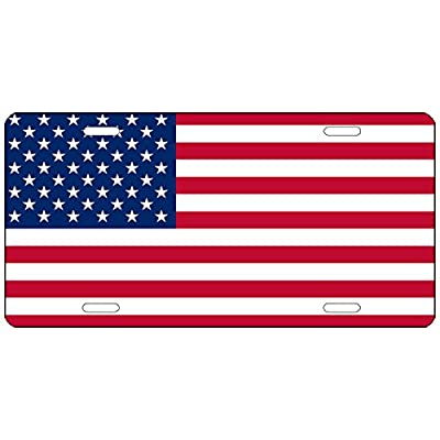 Rogue River Tactical USA Flag License Plate Novelty Auto Car Tag Vanity Gift American Patriotic US: Automotive