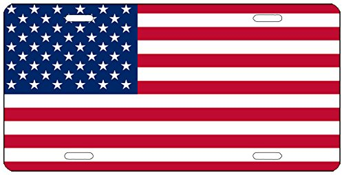 (Rogue River Tactical USA Flag License Plate Novelty Auto Car Tag Vanity Gift American Patriotic US)