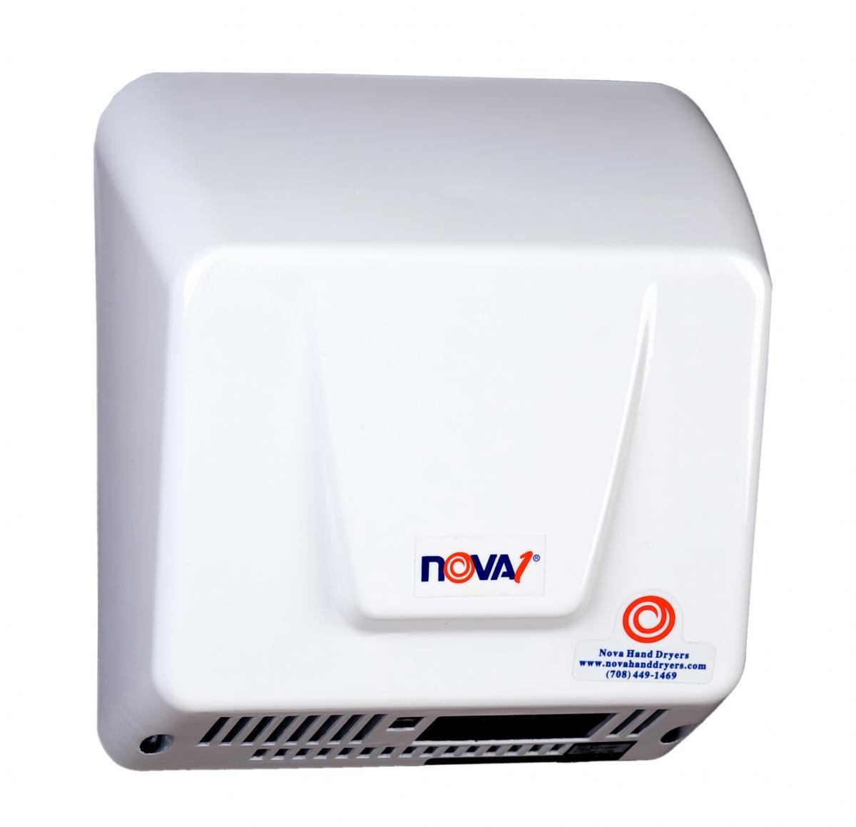 0830 Nova 1 Automatic Hand Dryer - infared sensor activated, 100 VAC to 240 VAC - 50 or 60 Hz