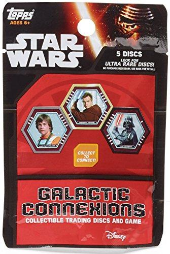 (2016 Topps Star Wars Galactic Connexions (5) Collectible Trading Disc and Game Pack - Factory Sealed)