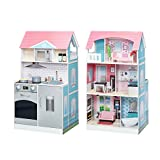 Teamson Kids Posh 2-in-1 Kitchen Dollhouse