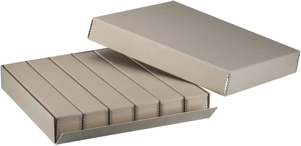 Adorama 35mm Size Master Slide Storage Box with Divider Boxes, Holds 2,160 Slides, 18 1/2x16 5/8x2 7/8""