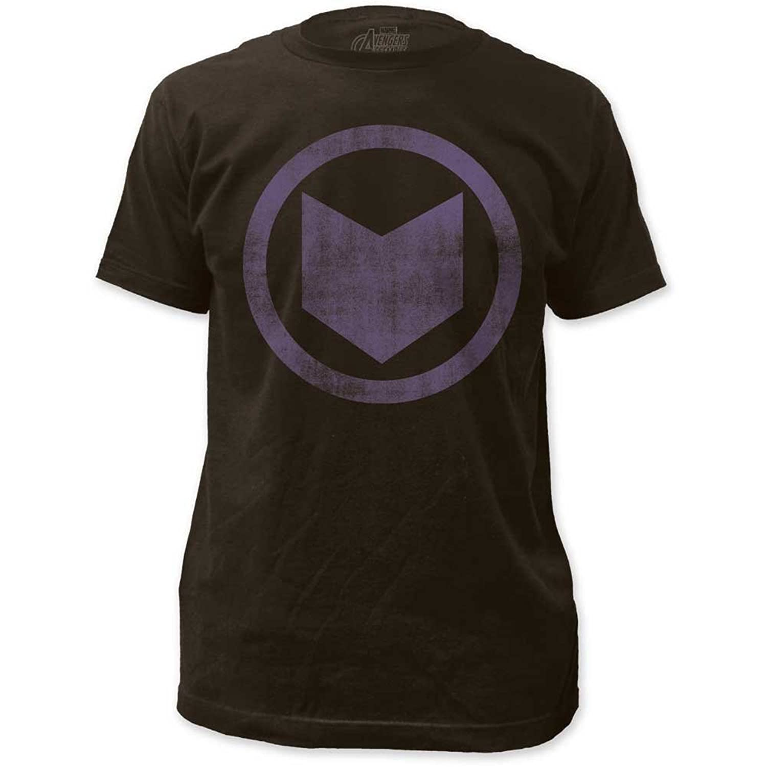 Hawkeye - Mens Distressed Icon Fitted Jersey T-Shirt