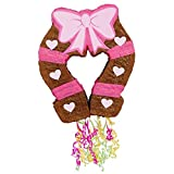 Pink Cowgirl Party Supplies - Horseshoe Pinata