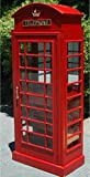 RED british PHONE Booth London WINE BAR CABINET old cast iron Furniture england