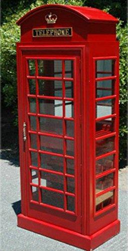 Amazon.com: Red British Phone Booth London WINE BAR Cabinet old ...