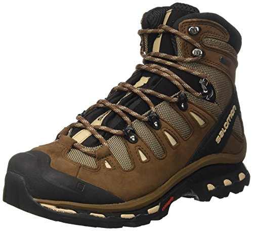 Backpacking Boot Mid Gtx (Salomon Men's Quest 4D 2 GTX Backpacking Boot, Fossil/Rain Drum/Humus, 7 M US)