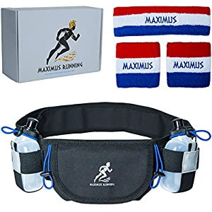 Marathon Hydration Running Belt: Waist Pouch for True Runners. Keys & Phone Pocket: iPhone 7 6s 6 5s Plus. Men & Women Runner Cases w/ Reflector for Key & Important Things