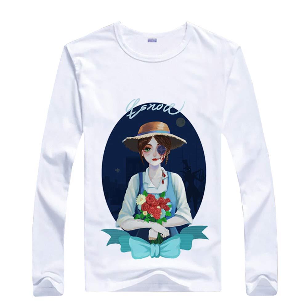 Identity V Verano Casual Flojo Color S/ólido Hombres y Mujeres Manga Larga T-Shirt Tops