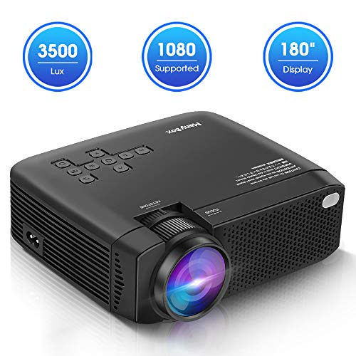 ManyBox Mini Projector, 3500 LUX Portable Video