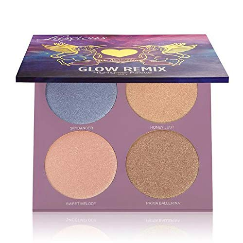 (NEW) Limited Edition Glow Remix Highlighter Palette by Luscious Cosmetics. Vegan and Cruelty Free. Net Wt. 4 x 0.14 oz