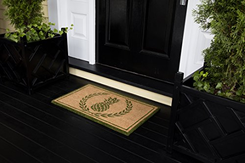 - Erin Gates by Momeni Park Pineapple Green Hand Woven Natural Coir Doormat 1'6