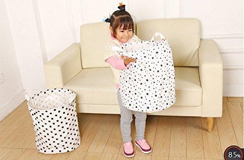 Aloiness Fashion DOT cestini portabiancheria grande bag Toy Storage Bag abbigliamento trucco organizzatore pieghevole cesto della decorazione domestica