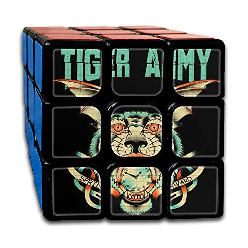(OQOIUA Tiger Three AR Three My Clock Interesting ABS Green Plastic Rubik Cube for Kids)