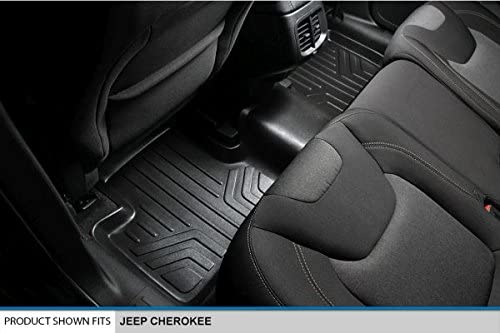 MAXLINER B0150 Floor Mats for Jeep Cherokee Black 2014-2017 2nd Row