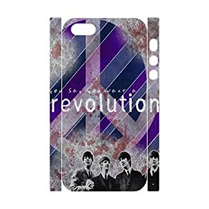 YYCASE Cell phone Protection Cover 3D Case The Beatles For Iphone 5,5S