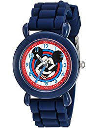 Boy's 'Mickey Mouse' Quartz Plastic and Silicone Casual Watch, Color:Blue (Model: WDS000143)