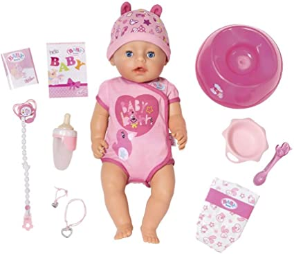 NEW Baby Born Blue Eyes Interactive Doll FREE SHIPPING