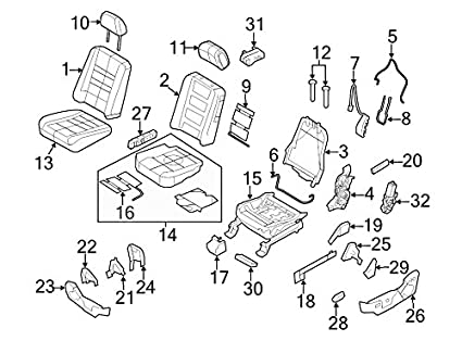amazon ford 8a8z 7461749 aa cover seat track automotive 99 Ford Ranger Parts Diagram image unavailable