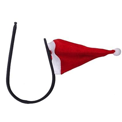 SODIAL Sexy Hombres sombrero de Navidad C-cuerda Tanga Invisible Ropa Interior Bolsa Linda Braga