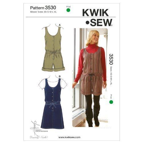 - Kwik Sew K3530 Romper and Jumper Sewing Pattern, Size XS-S-M-L-XL by KWIK-SEW PATTERNS