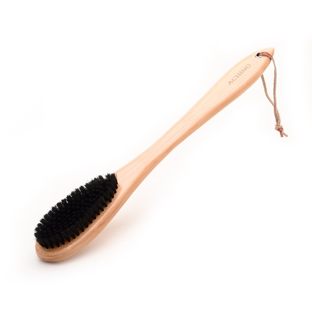 ACHINO Long Handle Wooden Clothes Brush Dirty Lint Remover for Suits and Furnitures Cleaning