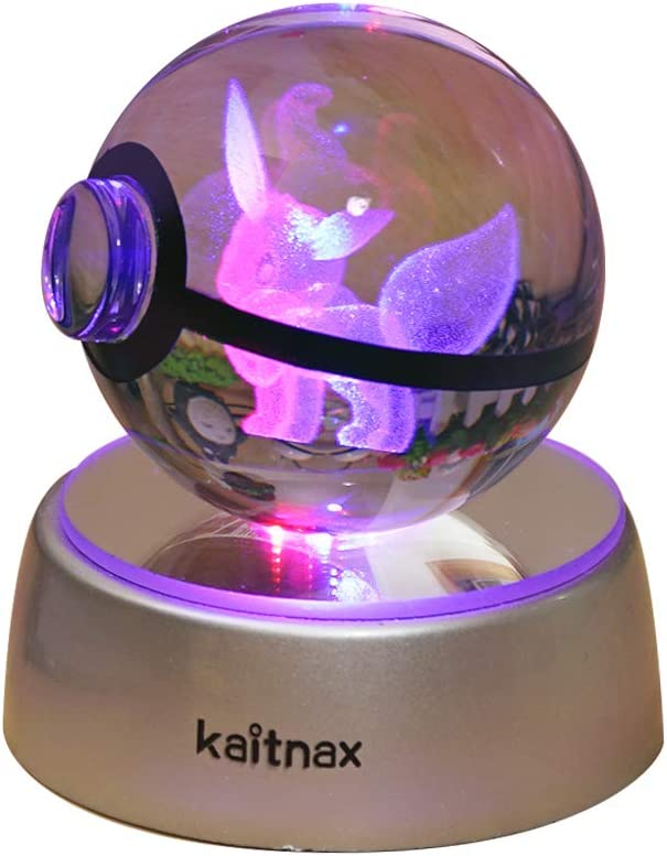 3d Crystal Ball Lamp Laser Engraving Image in the Ball LED Color Change Base(Multi-colored-Ev)