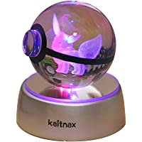 Kaitnax 3d Crystal Ball Lamp Laser Engraving Image in the Ball LED Color Change Base ..., Eevee