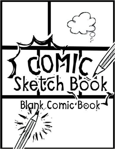 Comic Sketch Book Blank Comic Book Create Your Own Drawing