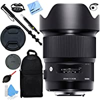 Sigma 20mm F1.4 Art DG HSM Wide Angle Lens for Nikon Full Frame DSLR Cameras with Pro Backpack Plus Accessories Kit