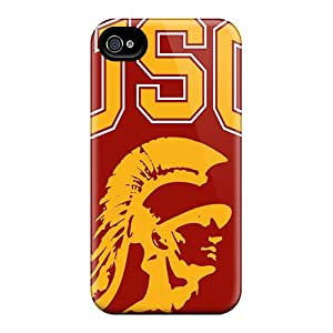Shockproof Hard Cell-phone Case For Iphone 4/4s (Awh9494Ivrd) Provide Private Custom High Resolution Usc Trojans Pictures