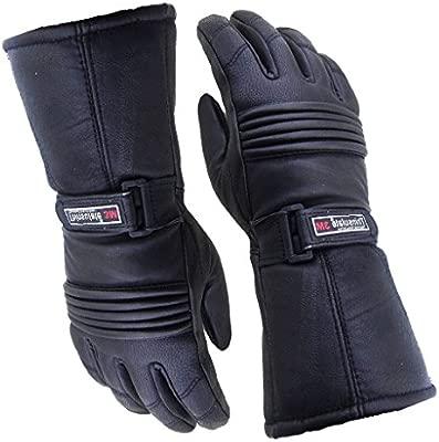 impermeables//t/érmicos en color Negro Bikers Gear UK Guantes para Hombre de cuero e Thinsulate