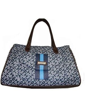 Women's Shopper Handbag, Medium, Grayish Blue Alpaca