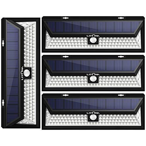 LITOM Enhanced 102 LED Super Bright Solar Lights Outdoor, So