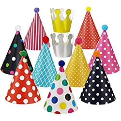 Hongyong Birthday Party Hats, 11ct (colour 11)
