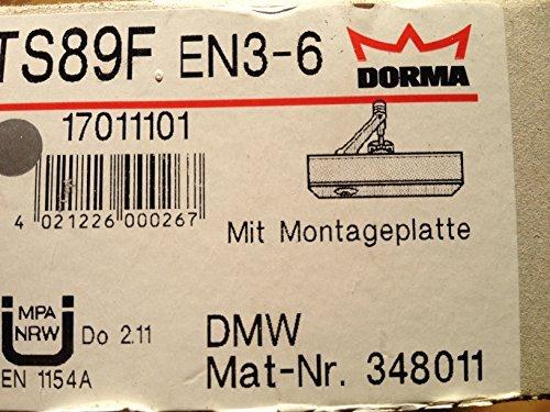 6/DMW 1701101/348011/complet avec armature et plaque de montage Dorma haut Ferme-porte argent ts89/F EN3
